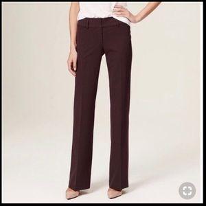 LOFT Julie trousers in burgundy women's 0